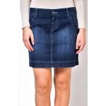 Синя дънова пола